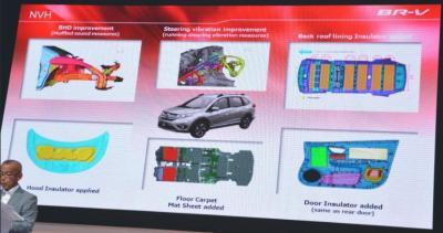 Kunci Utama yang membuat Kabin Honda BR-V Senyap/Kedap